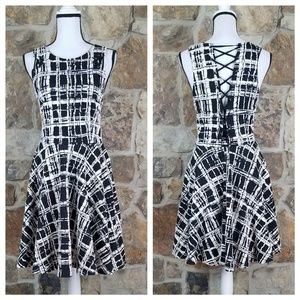 Anthro Maeve L LARGE Textured Plaid Dress Dress